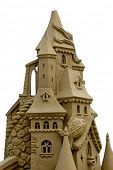 beautiful sand castle made with great skill