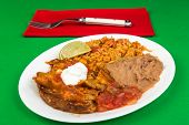 foto of enchiladas  - Mexican dinner  - JPG