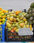 pic of prickly pears  - Fruits of Opuntia ficus indica prickly pear cactus - JPG