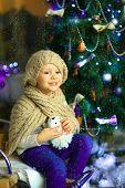 The Girl Near A Christmas Fir-tree 4