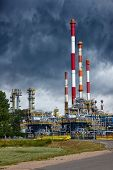 Refinery Under Dramatic Sky