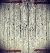 Oil Painting Stylized Picture Of A Wooden Gate.