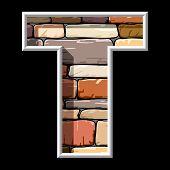 stone letter T
