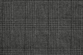 Rough Texture Checkered Fabric Of Black Color