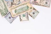 picture of two dollar bill  - Dollar Bills - JPG