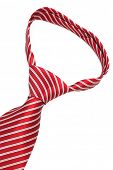 beautiful knot red tie close up