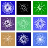 Color Ornamental Background With Squares