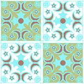 Seamless ornamental pattern geometric texture background