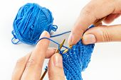 Knitting With Two Spokes Isolated