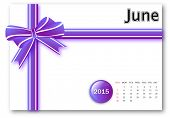June 2015 - Calendar series with gift ribbon design