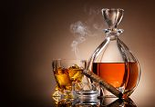 Постер, плакат: Decanter of whiskey