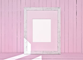 pic of mosk  - White canvas on pink wooden plank background - JPG