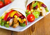 pic of sandwich wrap  - Mexican fajitas  - JPG