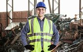 pic of landfills  - Portrait of a man working in a landfill - JPG