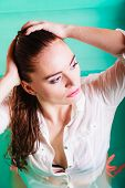 stock photo of sexuality  - Sensuality and sexuality of women - JPG