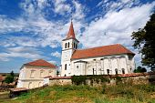 Saxon Fortified Medieval Church In Beia, Transylvania, Romania