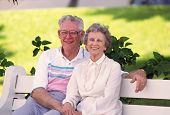Retired Couple On Bench