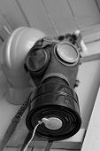 pic of gas mask  - Photo of the WW II gas mask - JPG