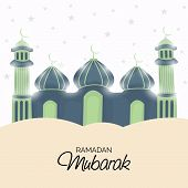 foto of mosk  - illustration of a mosk for Ramadan Mubarak - JPG