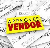 Постер, плакат: Approved Vendor business cards as preferred provider of service or products from the best company