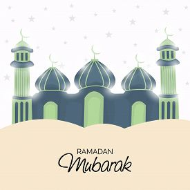stock photo of mosk  - illustration of a mosk for Ramadan Mubarak - JPG