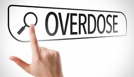 picture of overdose  - Overdose written in search bar on virtual screen - JPG