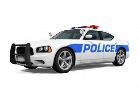 pic of police  - Police Car isolated on white background - JPG