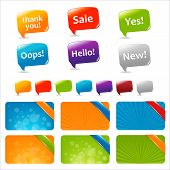 image of text-box  - Web Text Boxes And Speech Bubbles Isolated On White Background Vector Illustration - JPG