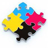 puzzle de CMYK