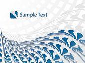 Corporate Business Template Background (Blue wave design)