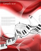abstract piano keyboard