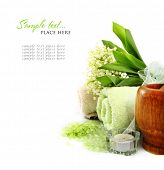 stock photo of spa massage  - SPA background - JPG