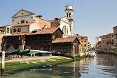 Canal Di San Trovaso With Gondola Shipyard