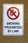 No Smoking sign board in a hawaiin complex