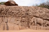 pic of arjuna  - One of the ancient architectural wonders of the Pallava kings in south India - JPG