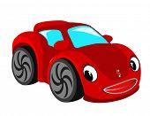 Постер, плакат: Красный автомобиль