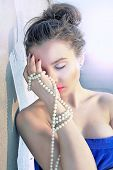 Luxury Girl And Pearls