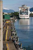 Cruise Ship In Juneau, Alaska