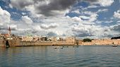View on ancient port of Acre in Israel.