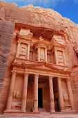 Treasury in world wonder Petra, Jordan