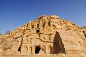 Nabataean obelisk tombe in world wonder Petra, Jordan