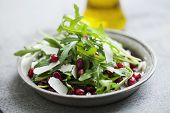 rocket, pomegranate and parmesan salad poster