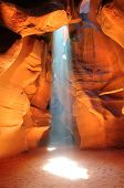 Sun beam in Antelope canyon, Arizona