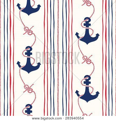 Handdrawn Rope Vertical Stripes With