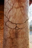 Abstract Cracked Background As Basis For Any Creative Design. Cement, Rok  Fissure Pattern. Crack Te poster