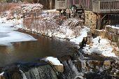 Water Grist Mill, Detail - Waterwheel.