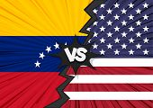 America And Venezuela Tariff Business Global Exchange International. Usa Versus Venezuela Flag. Trad poster