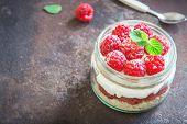 Raspberry Layered Dessert poster
