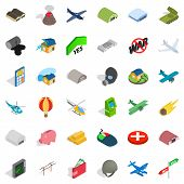 Big War Icons Set. Isometric Style Of 36 Big War Icons For Web Isolated On White Background poster