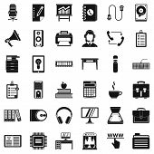 Work Folder Icons Set. Simple Style Of 36 Work Folder Icons For Web Isolated On White Background poster